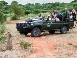 Think Strawberries signs on Corundum Tours for Africa promotion