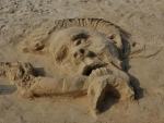 Sand art competition in Goa