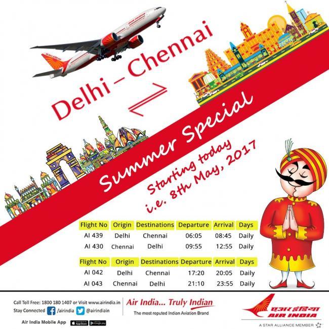 Air India deploys Boeing 777 aircraft on Delhi-Chennai route
