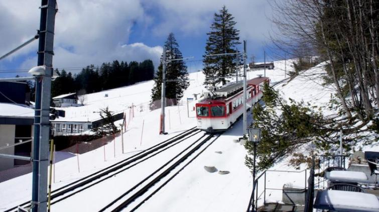 Mount Rigi: Swiss Alps on a cogwheel train