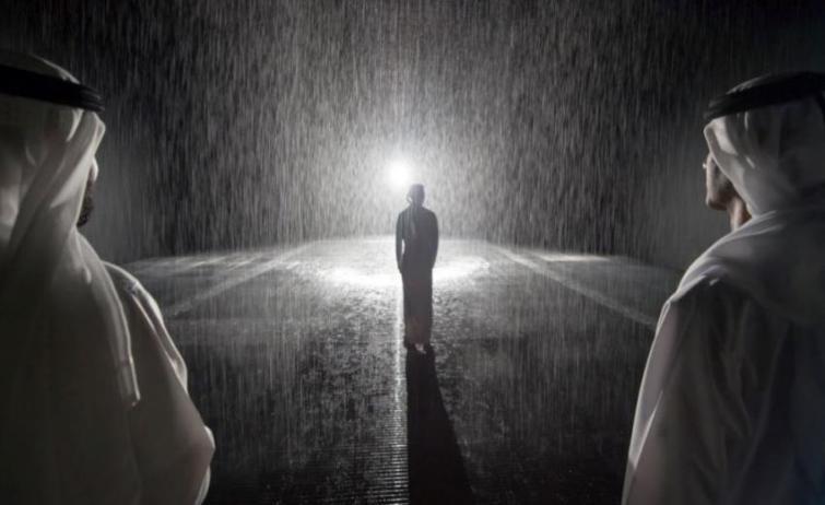 Non-stop Rain Room at Sharjah Art Foundation