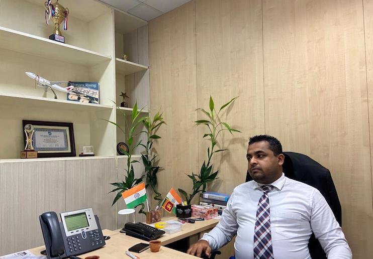 Shiran Kretser Silva, Area Manager, Kolkata, SriLankan Airlines