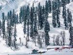 Tourists enjoy snow in Jammu and Kashmir's DKG
