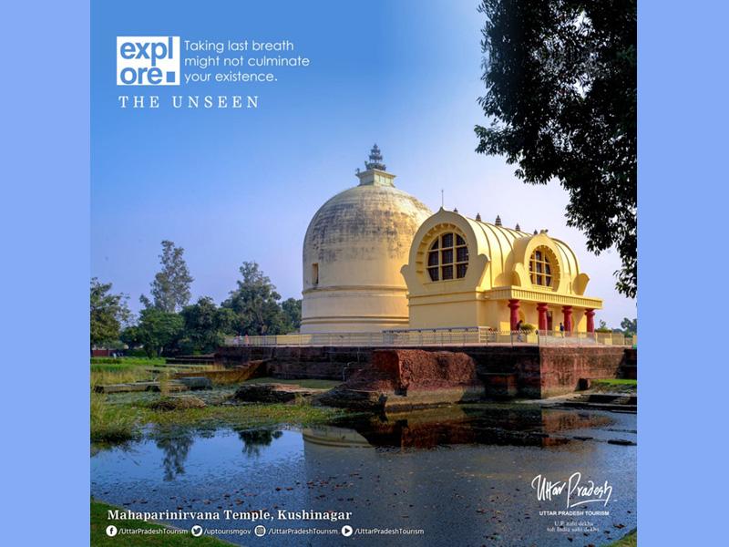 Mahaparinirvana Temple. Credit: Uttar Pradesh Tourism/Facebook