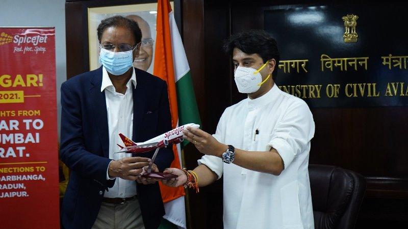 Jyotiraditya Scindia inaugurates first direct flight on Bhavnagar-Delhi route
