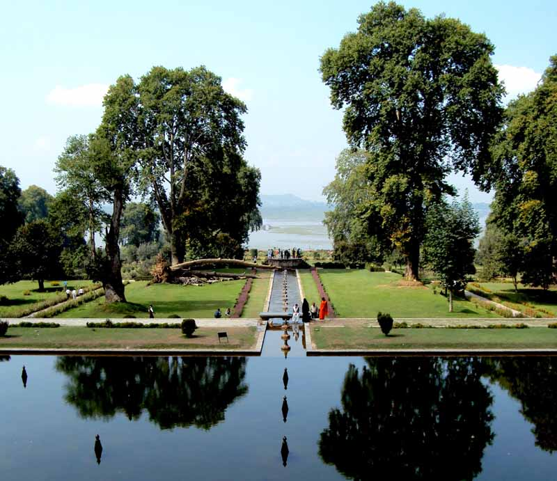 (A view of Shalimar Bagh in Srinagar)