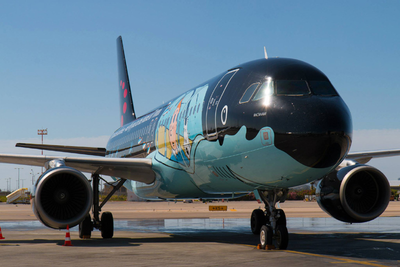 Brussels Airlines' first Belgian Icon aircraft to get a fresh paint and more Tintin illustrations