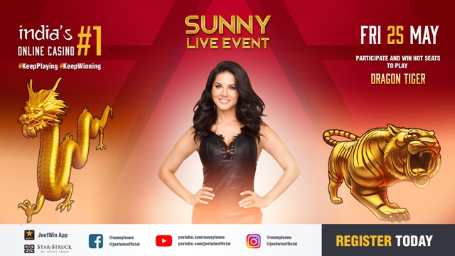 JeetWin gets glamorous - Sunny Leone amps up the glamor quotient |  Indiablooms - First Portal on Digital News Management