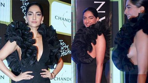 Image result for Sonam Kapoor side boob