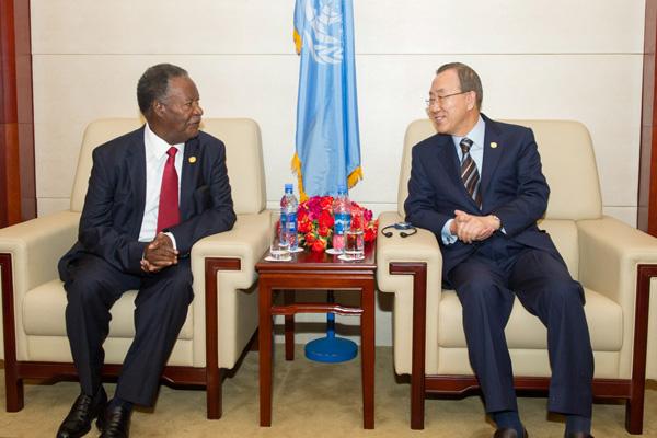 Ban pays tribute to late Zambian President Michael Chilufya Sata