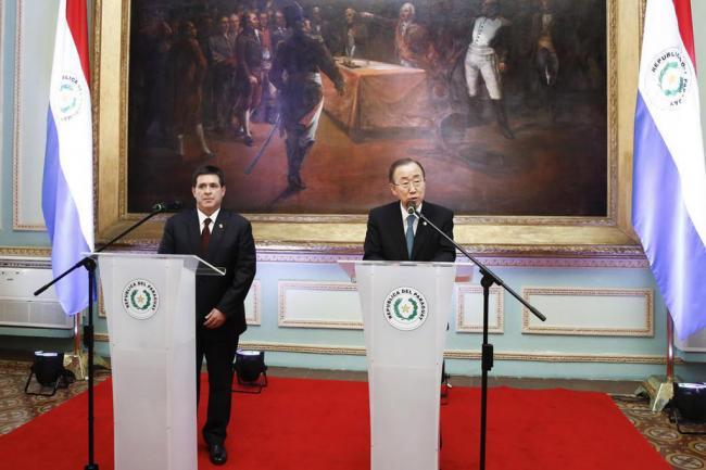 Paraguay: Ban sets sights on post-2015 development agenda