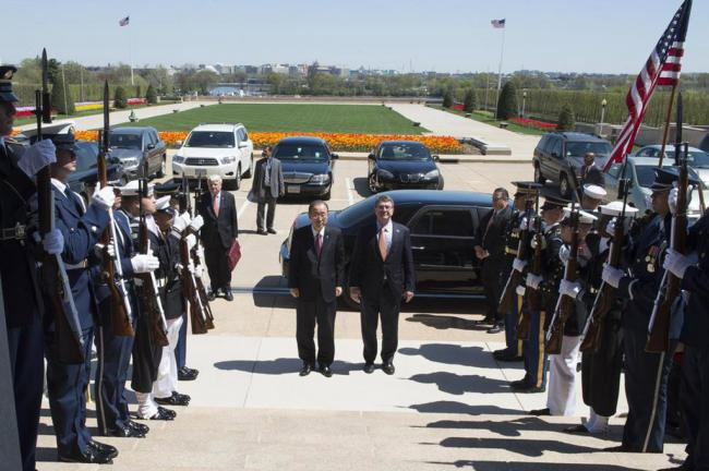 Washington: UN chief meets US Government officials