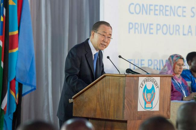 Ban highlights private-sector investment for potential to 'transform' Africa's Great Lakes region