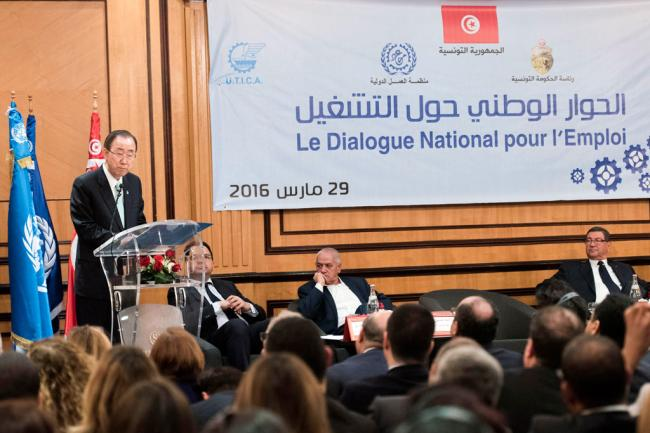 In Tunisia, Ban stresses importance of youth employment in sustainable development