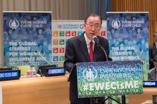 Lauded for his advocacy, Ban urges renewed pledges to improving lives of women and girls