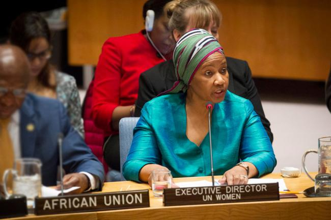 At Security Council, UN Women chief urges greater input, visibility of women in peace building