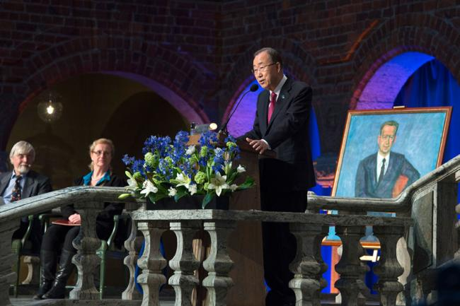 In Stockholm, UN chief highlights climate change and human mobility as pressing issues