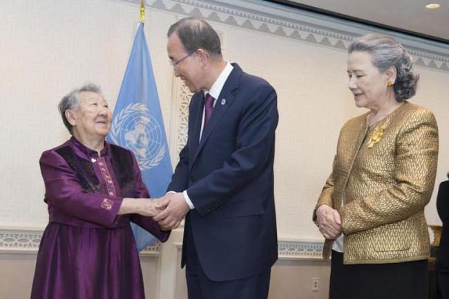 Voices of survivors must be heard, UN chief says after meeting 'comfort women' victim