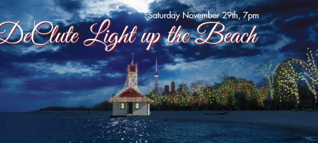 9th Annual DeClute Light Up The Beach Event held in Toronto