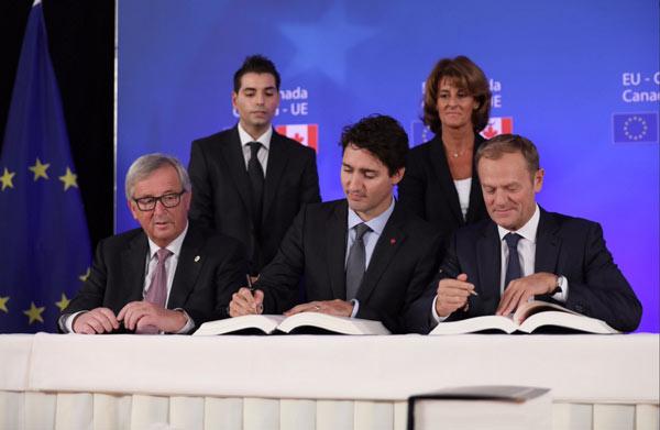 Canada-EU free trade deal gets signed