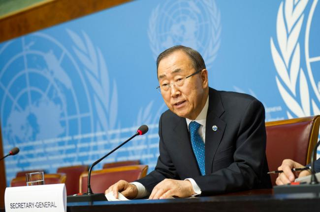 In Geneva, Ban reiterates call to end Syrian conflict; reflects on tenure as UN chief