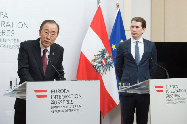 In Vienna, Ban says UN and Austria will continue cooperation in promoting shared goa