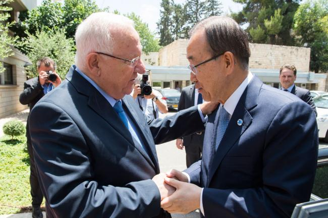 In Jerusalem, Ban urges two-State solution to Israel-Palestine conflict