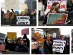 Hundreds gather at NY airport to protest against Trump's ban on refugees