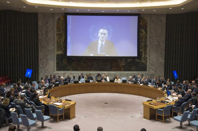 At Security Council, senior UN envoy cautions against 'unilateral' action in Middle Eas