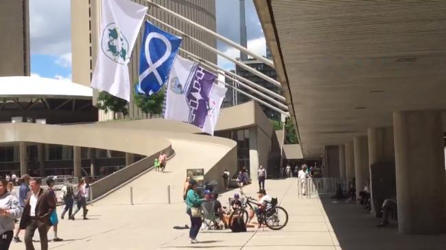 Canada: National Aboriginal Day celebration witnesses Sunrise ceremony, permanent installation of indigenous flags