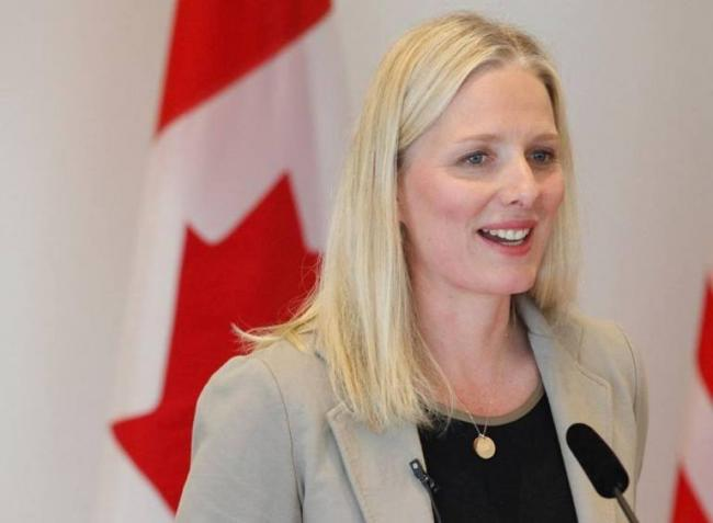 Canada Minister McKenna discusses environmental issues with USA