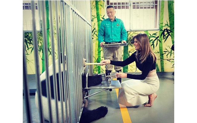 Melania Trump meets panda, pictures go viral online