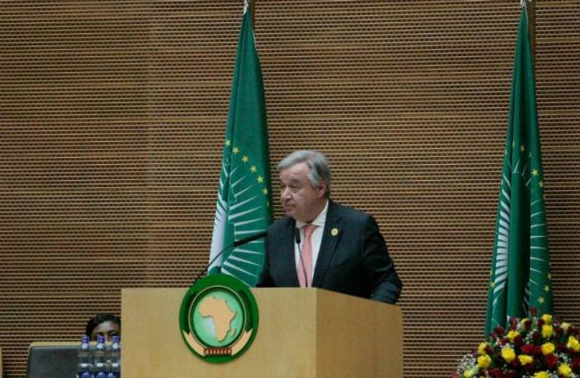 At African Union Summit, Guterres lauds strong AU-UN partnership, outlines areas for more cooperation