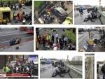 Car crashes outside Parliament in London, man arrested over terrorism suspicion