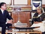Sheikh Hasina meets Japanese minister in Dhaka, urges international community to persuade Myanmar to take back Rohingyas
