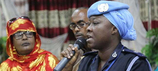 UN police officer recognized for protecting vulnerable Somali women from abuse