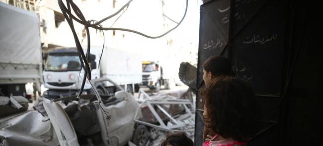 Syria: UN aid convoy returns to eastern Ghouta