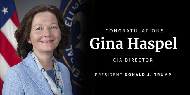 Gina Haspel appointed as CIA director