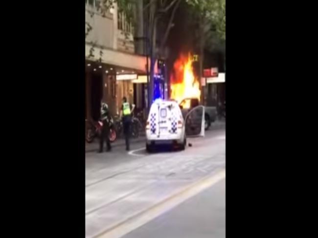 Melbourne: Man sets car on fire, stabs people; arrested