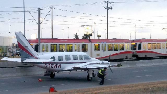 Pilot lands aircraft on Calgary road after engine snag