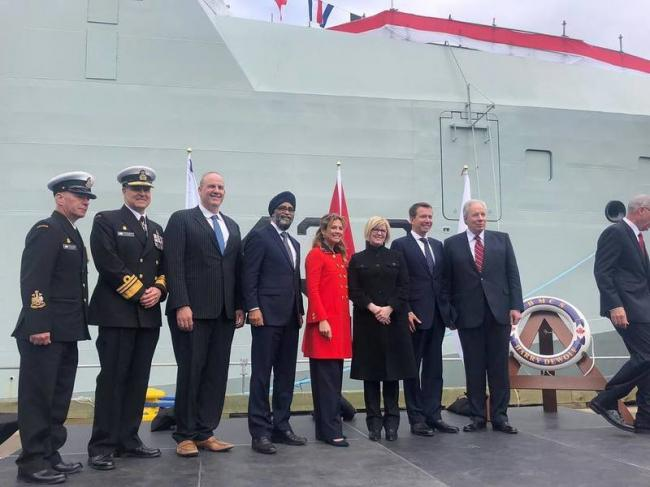 Canada PM Justin Trudeau's wife Sophie names country's first Arctic and offshore patrol ship