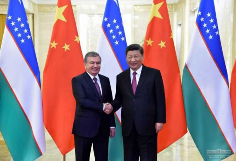 Uzbekistan President in China for the One Belt One Road forum, meets with the PRC President
