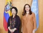 Pakistan UN envoy meets UNGA President to discuss Kashmir issue