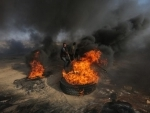 At least 96 Palestinians injured in clashes with Israeli soldiers in eastern Gaza: official