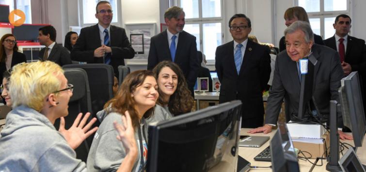 Guterres underscores UN role in achieving a free, secure Internet