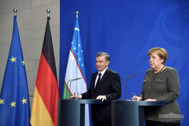 Shavkat Mirziyoyev- Merkel meeting: Agreements reached on projects worth over 8 billion euros
