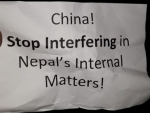 Nepalese youth protests against Chinese interference in domestic politics