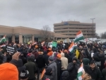 Canada: Indian diaspora demonstrate outside Pakistan Consulate in Toronto on 'Black Day'