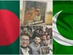 Pakistan's Jamaat-e-Islami loyalists display placards of executed Bangladeshi Islamist leader at T20 match