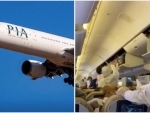 Pakistan International Airlines passengers protest violation of social distancing during flight